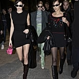 Kendall Jenner, Gigi Hadid, and Bella Hadid at Milan Fashion Week
