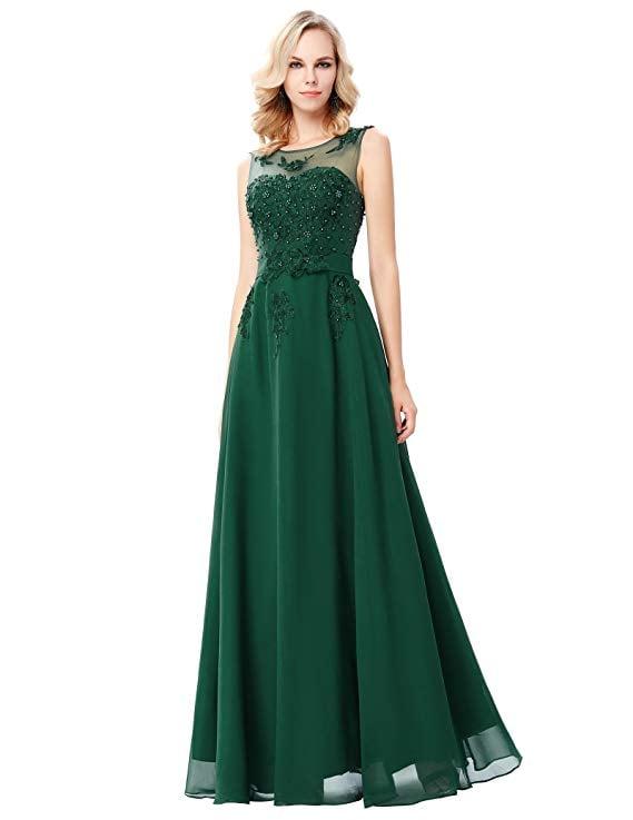 GRACE KARIN Chiffon Dress with Beading