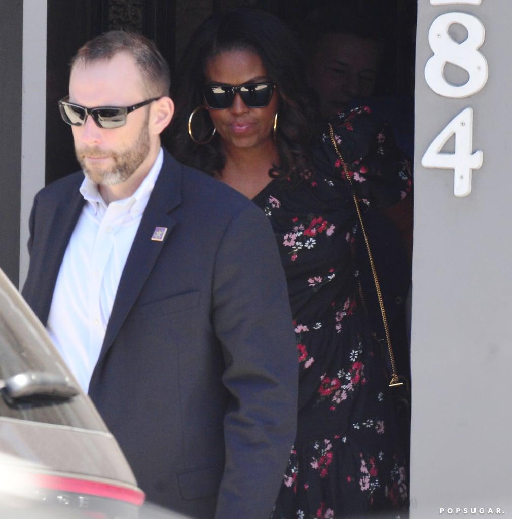 Michelle Obama Floral One-Shoulder Floral Dress