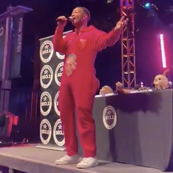 "John Legend Sings ""All of Me"" in Onesie at Universal Studios"