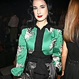 Dita Von Teese at Carolina Herrera Spring 2014.