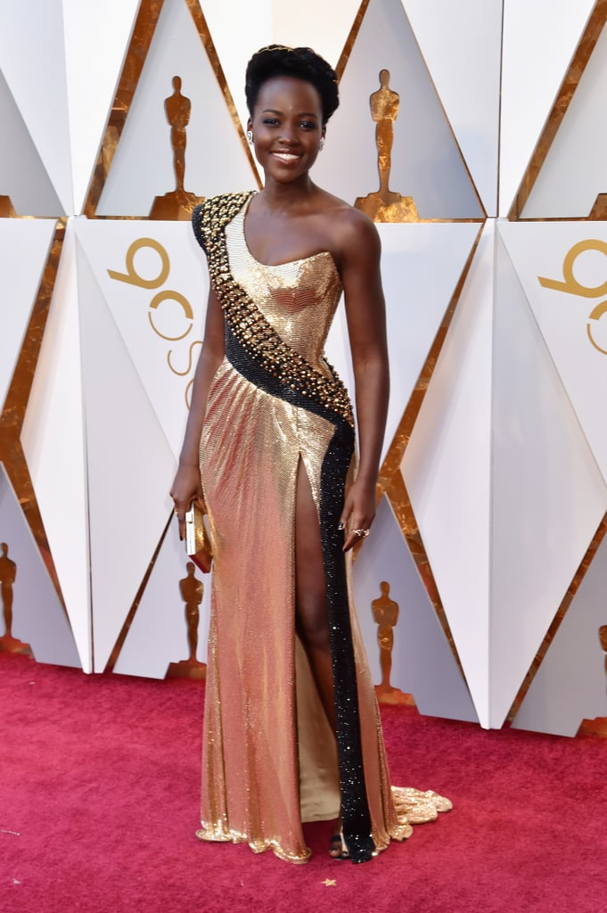 "Lupita Nyong'o's Divine Dress Says ""I'm Strong and Fierce"""