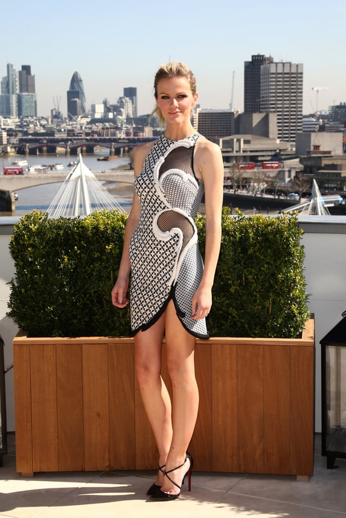 Brooklyn Decker promoted Battleship in March wearing a paisley-print mini by Stella McCartney.