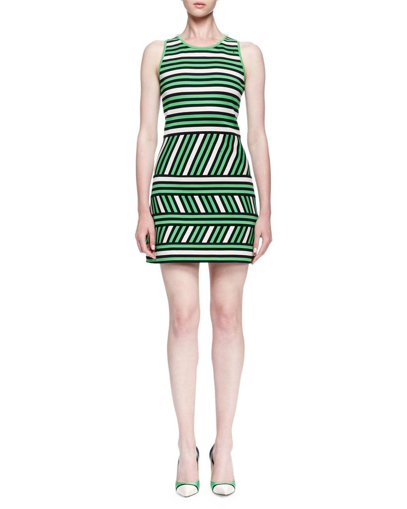Lanvin Mixed-Stripe Linen-Blend Mini Dress ($1,885)