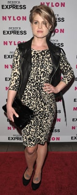 Kelly Osbourne Wears Animal Print Dress to Nylon Party