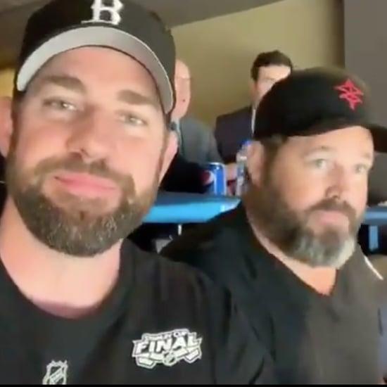 John Krasinski Trolls Jenna Fischer at Stanley Cup Game 7