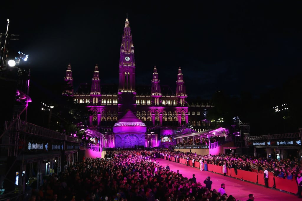 The red carpet at the 2013 Life Ball in Vienna, Austria.  Photo courtesy of Roberto Cavalli