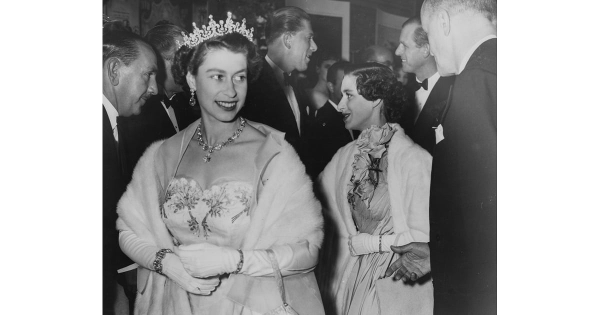 Queen Elizabeth Ii Her Sister Princess Margaret And Husband