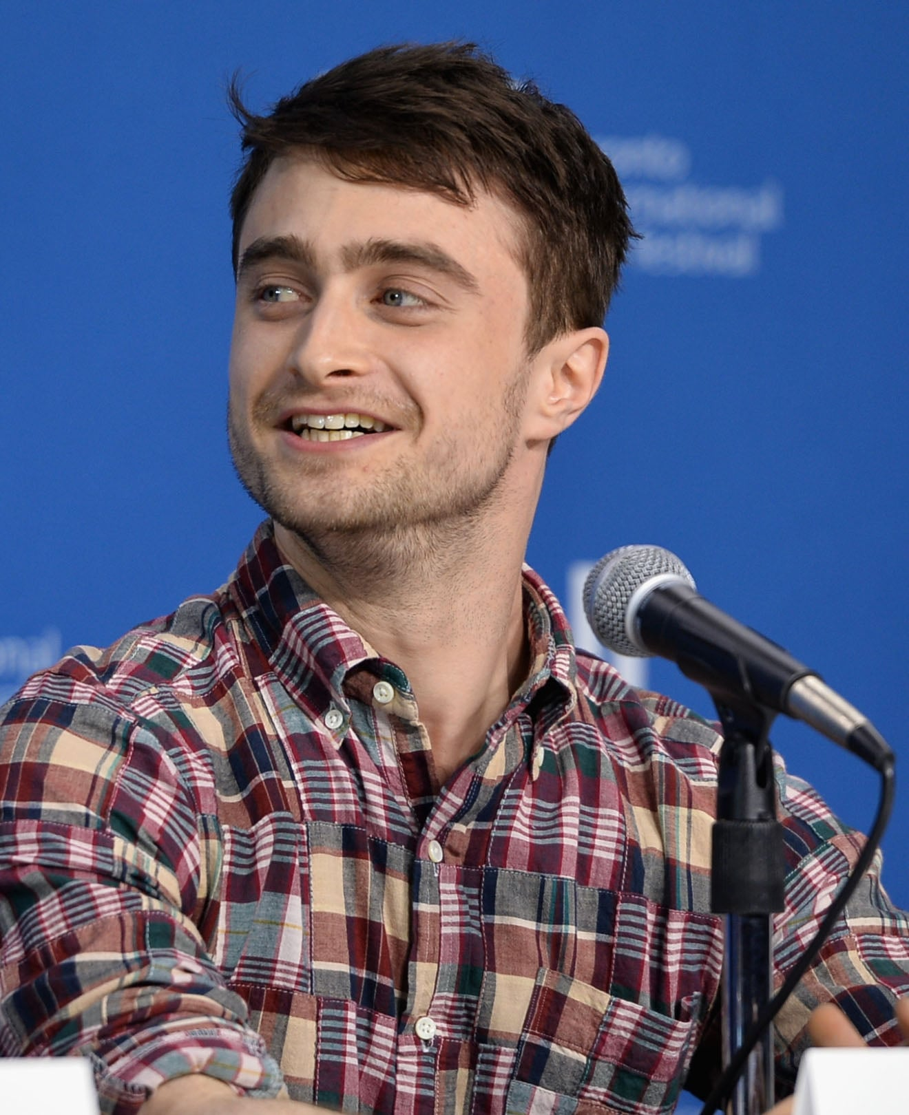 Daniel Radcliffe attended a press conference for The F Word.