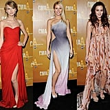 Take a look at all the fabulous red carpet gowns from the CMA Awards — then vote for your favorite!