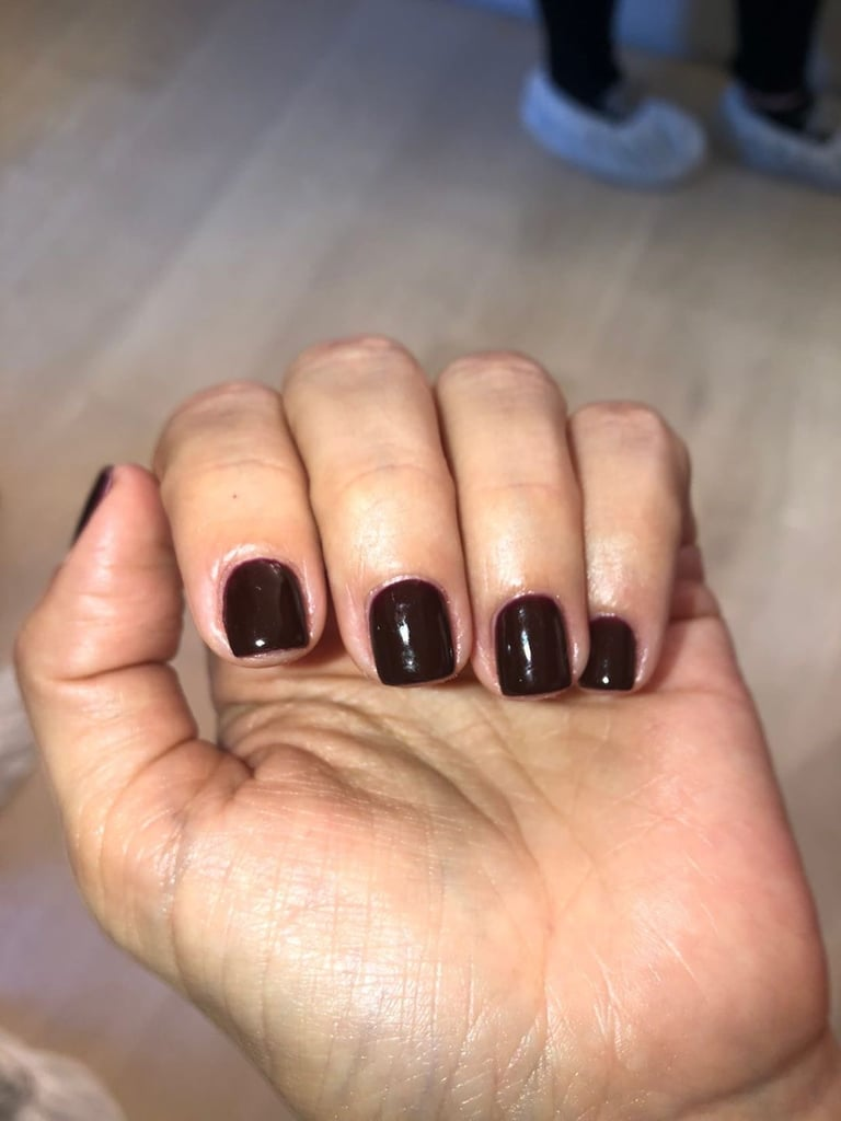 Kim Kardashian's Dark Nail Polish Color