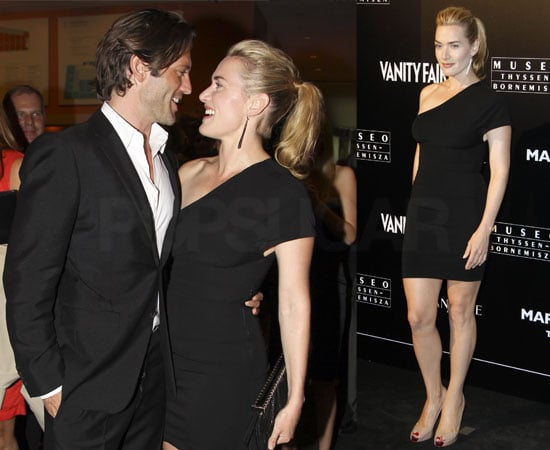 Pictures of Kate Winslet and Louis Dowler Looking Loved Up at Mario Testino's Photography Exhibition Launch in Madrid