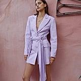 Significant Other Dahlia Linen-Blend Blazer Dress