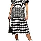 Topshop Textured Check Maternity Midi Dress