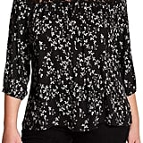 Want & Need Floral Lace Yoke Blouse