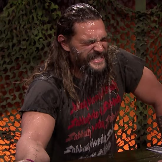 Jason Momoa Playing Water War With Jimmy Fallon Video