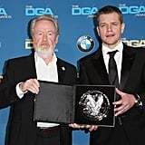 Pictured: Matt Damon and Ridley Scott