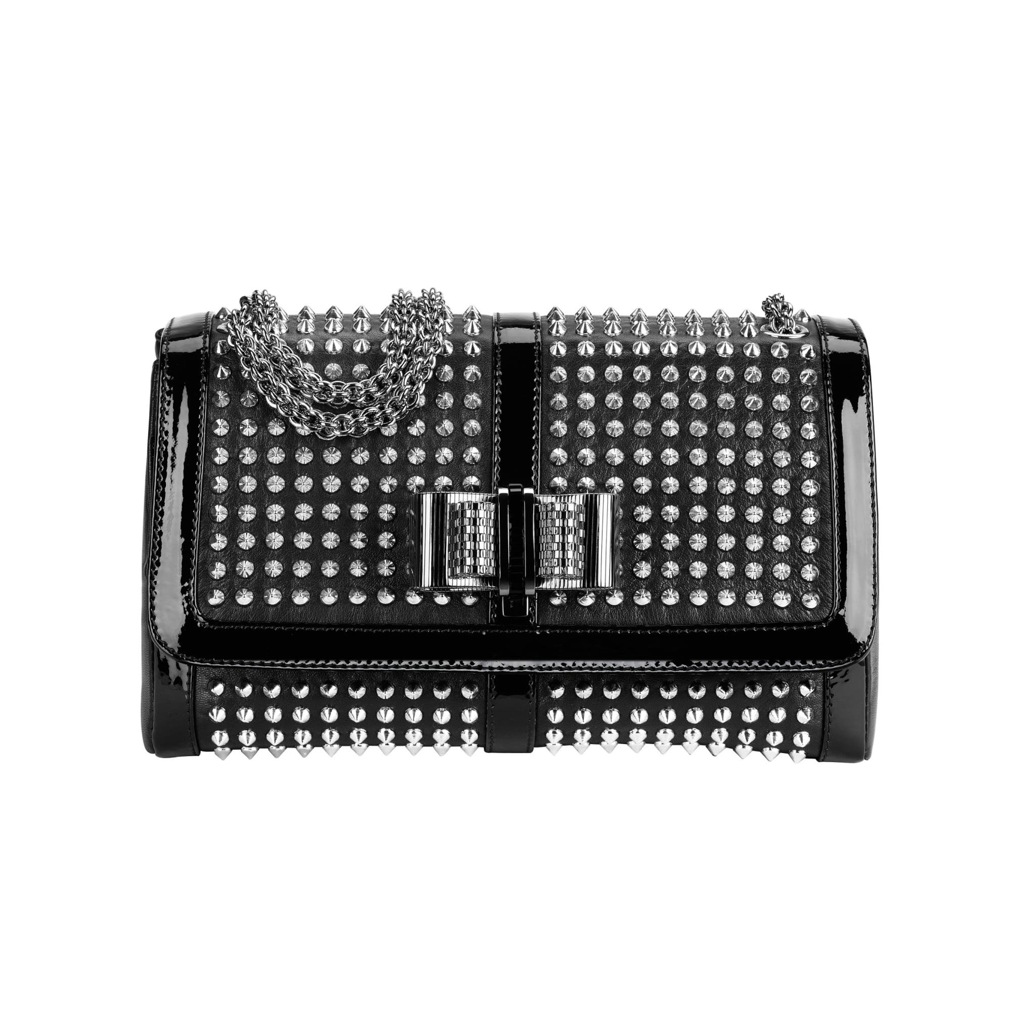 Sweet Charity small Spikes bag in nappa/patent, $2295