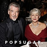 Pierce Brosnan and Helen Mirren at the 2020 Golden Globes
