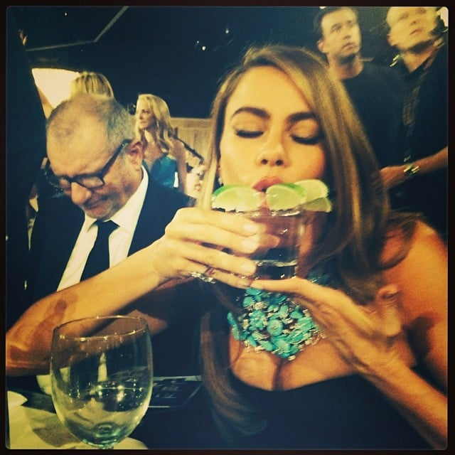 Sarah Hyland shared a picture of Sofia Vergara, who really, really likes limes with her tequila. Source: Instagram user therealsarahhyland