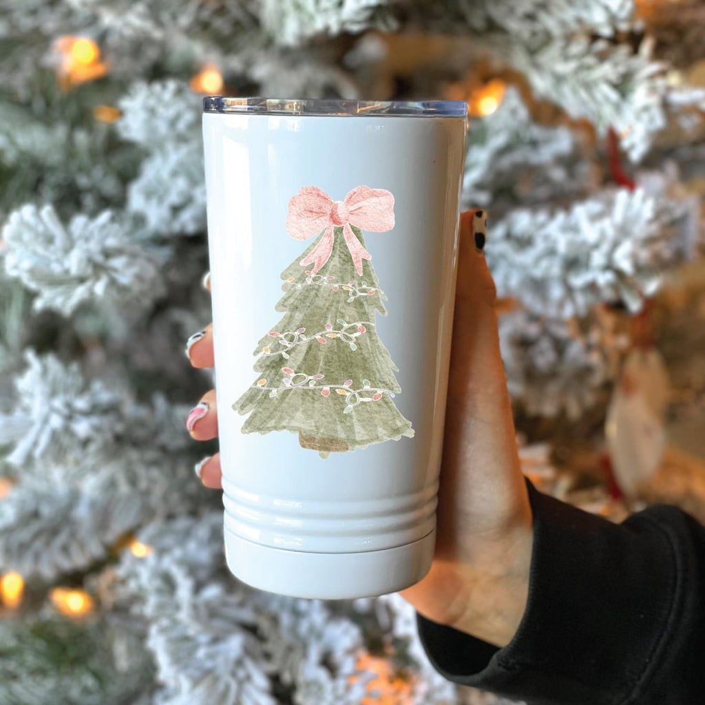 Christmas Tree Metal Travel Coffee Tumbler