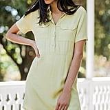 UO Lou Collared Mini Shirt Dress