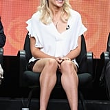 Sarah Michelle Gellar was feminine and fresh in this L'Agence white sleeveless ruffle top ($100, originally $250) at the 2013 Summer TCA tour.