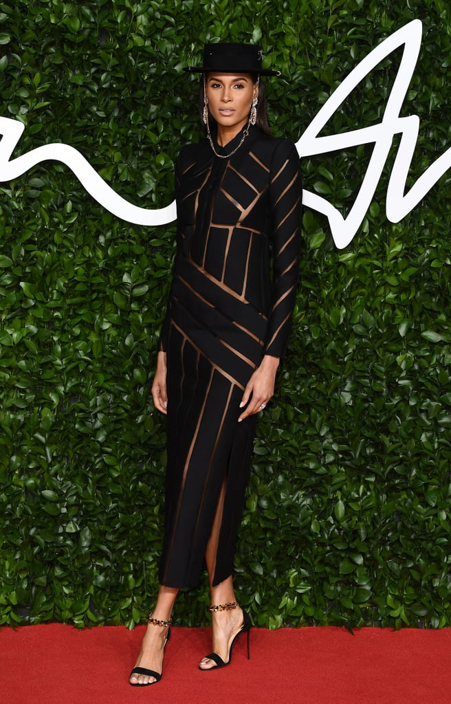 Cindy Bruna at the British Fashion Awards 2019 in London