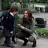 Kate Middleton Talking to a Girl at Sayers Croft Forest 2018