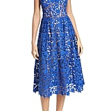 This electric blue Self-Portrait Azaelea Lace Fit & Flare Dress ($500) will look good on anyone.