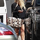 Jessica Simpson arrived at a photo shoot in LA.
