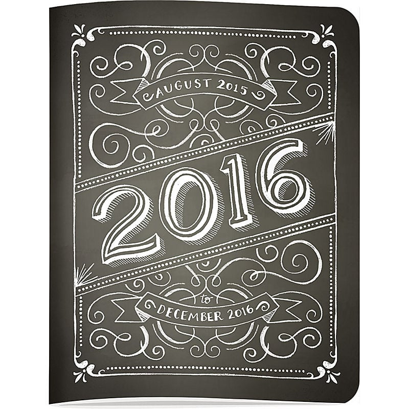2015-2016 Paper Source Chalk Jumbo Booklet Planner