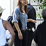 Jennifer Garner smiled on the set of Alexander and the Terrible, Horrible, No Good, Very Bad Day in LA on Thursday.