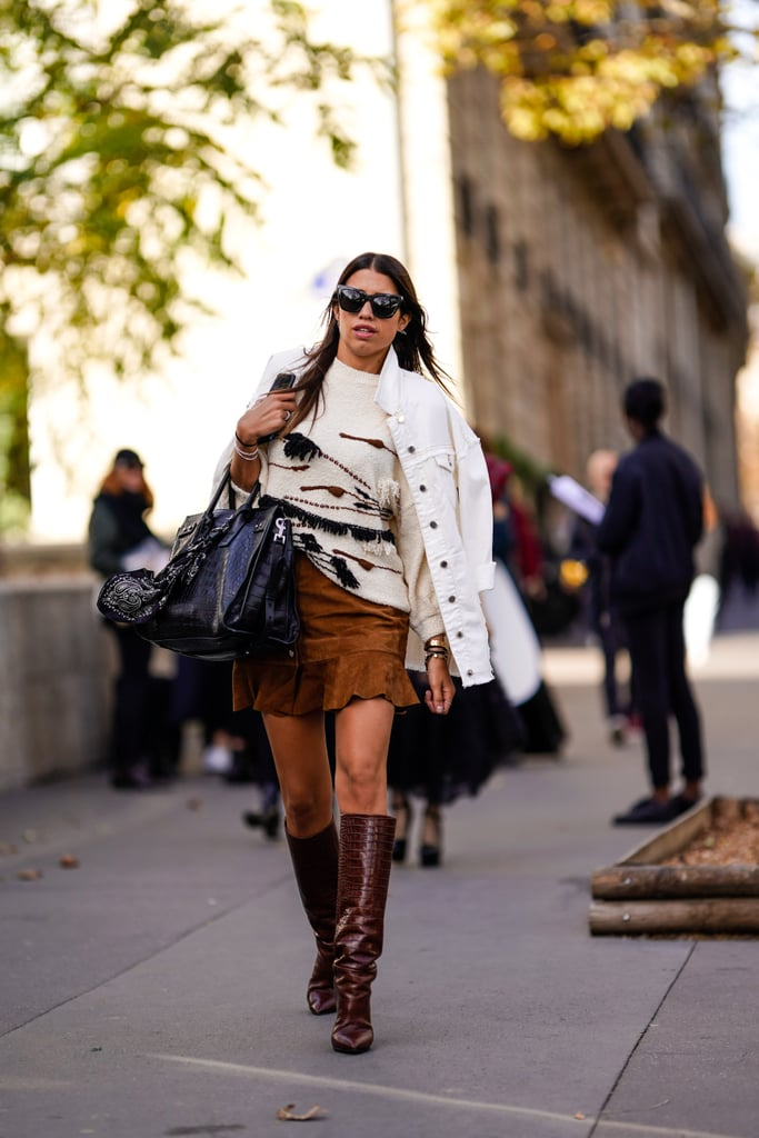 How to Wear Suede: A Mini Skirt