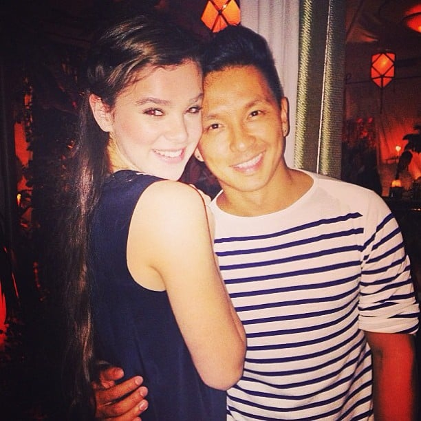 Hailee Steinfeld cozied up to designer Prabal Gurung. Source: Instagram user haileesteinfeld
