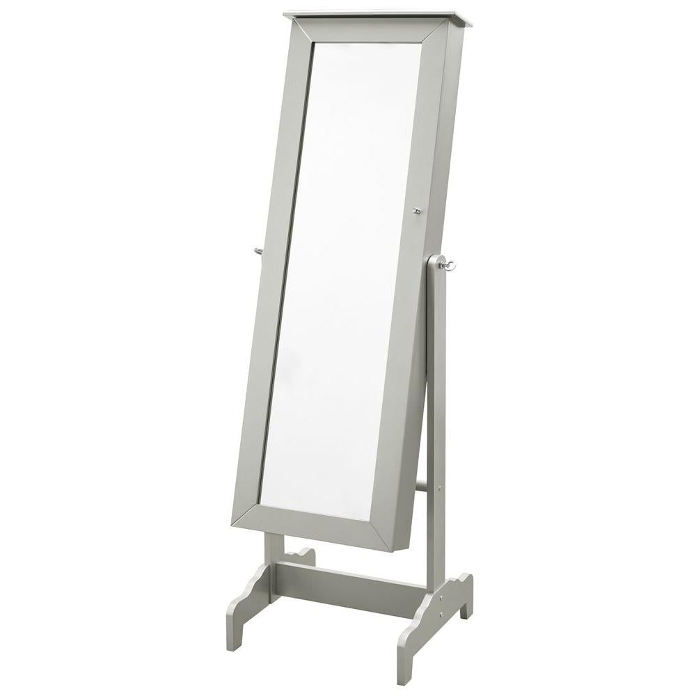 Harper Cheval Mirrored Jewelry Armoire in Silver ($138)