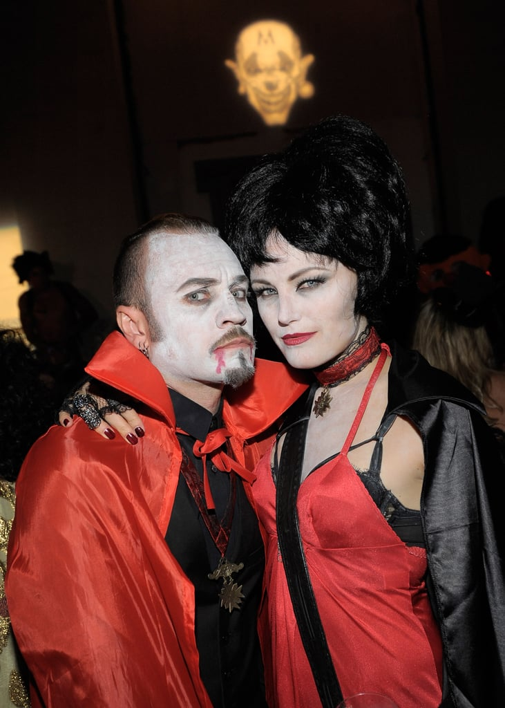 Roberto Zincone and Malin Akerman were vampires for Halloween.