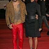 Lenny Kravitz looked sharp with French singer Shy'm at the NRJ Music Awards in Cannes on Saturday.