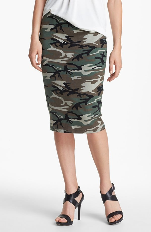 We know camo's poised to explode. Include it in your office life with a sleek pencil skirt ($32, originally $48).