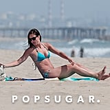 Desiree Hartsock spent some time alone on the beach.