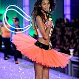 Chanel Iman blew a kiss at the Victoria's Secret Fashion Show.