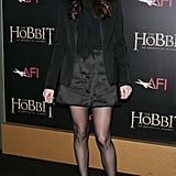 Liv Tyler showed off her legs.