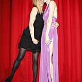 Jennifer held on to her Just Go With It costar Brooklyn Decker at the film's Berlin premiere in February 2011.