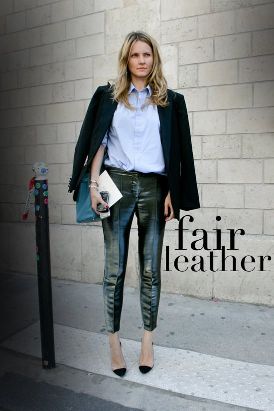 Leather Pants Styling Tricks — Fall 2011 Street Style