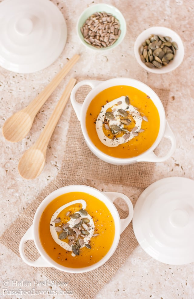 Spiced Pumpkin Carrot And Sweet Potato Soup Pumpkin Soup Recipe