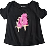 INC International Concepts Popsicle Graphic-Print Cold-Shoulder T-Shirt