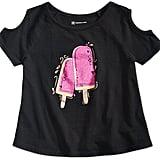 INC International Concepts Popsicle Graphic-Print Cold-Shoulder T-Shirt
