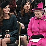 Kate and Queen Elizabeth Sitting Together 2012