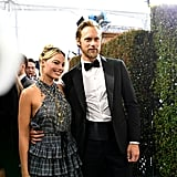 Margot Robbie and Alexander Skarsgárd at the 2020 SAG Awards