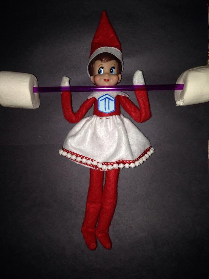 Of Course Elf On The Shelf Does CrossFit